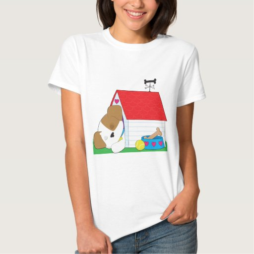 Cute Puppy Dog House T Shirts