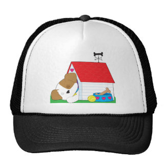Cute Puppy Dog House Trucker Hat