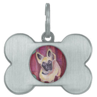 Cute Puppy Dog Painted Pet Tags
