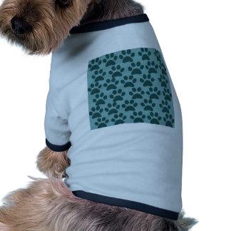 Cute Puppy Dog Paw Prints Blue Gray Dog Lovers Doggie Tee Shirt