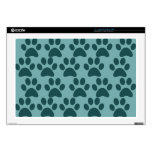 Cute Puppy Dog Paw Prints Blue Gray Dog Lovers Skin For Laptop