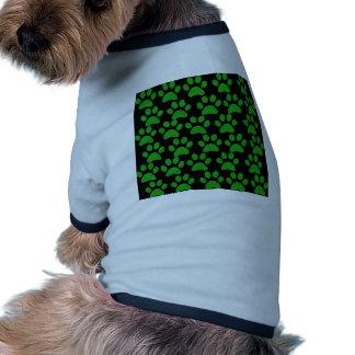 Cute Puppy Dog Paw Prints Green Black Doggie T Shirt