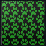 "Cute Puppy Dog Paw Prints Green Black Napkin<br><div class=""desc"">This design is covered in Cute Puppy Dog Paw Prints in Green and Black.  Makes a great gift for any dog lover. 