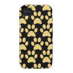 Cute Puppy Dog Paw Prints Tan Black Vibe iPhone 4 Covers