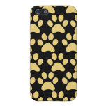 Cute Puppy Dog Paw Prints Tan Black Cover For iPhone 5