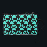 """Cute Puppy Dog Paw Prints Teal Blue Black Change Purse<br><div class=""""desc"""">This design is covered in Cute Puppy Dog Paw Prints in Teal Blue and Black.  Makes a great gift for any dog lover.    &quot;gifts for dog lovers&quot; &quot;dog&quot; &quot;dogs&quot; &quot;pets&quot; &quot;paw print&quot; &quot;paw prints&quot; &quot;paw print design&quot; &quot;puppies&quot; &quot;animals&quot; &quot;animal lovers&quot; &quot;dog owners&quot; &quot;dog business&quot;</div>"""