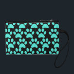 "Cute Puppy Dog Paw Prints Teal Blue Black Change Purse<br><div class=""desc"">This design is covered in Cute Puppy Dog Paw Prints in Teal Blue and Black.  Makes a great gift for any dog lover. 