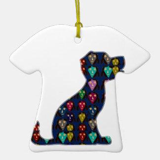 CUTE puppy dog pet dot painted NVN92 navinJOSHI FU Christmas Ornament