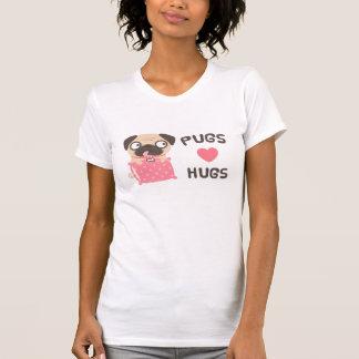 Cute Puppy Dog Pugs Love Hugs T-Shirt