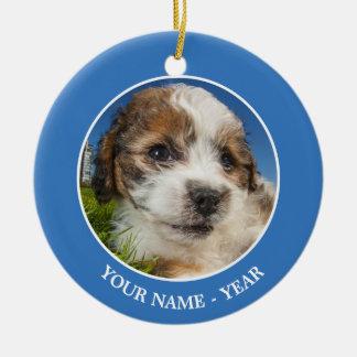 Cute puppy dog (Shitzu) Ceramic Ornament
