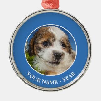 Cute puppy dog (Shitzu) Metal Ornament