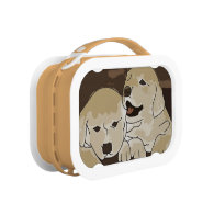 Cute Puppy Drawing Lunch Boxes