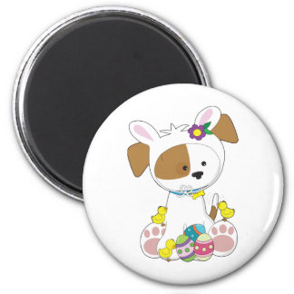 Cute Puppy Easter 2 Inch Round Magnet