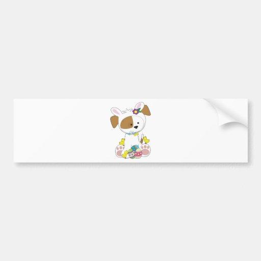 Cute Puppy Easter Bumper Sticker