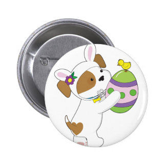 Cute Puppy Easter Egg 2 Inch Round Button
