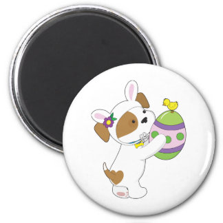 Cute Puppy Easter Egg 2 Inch Round Magnet
