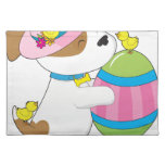Cute Puppy Easter Egg Cloth Placemat