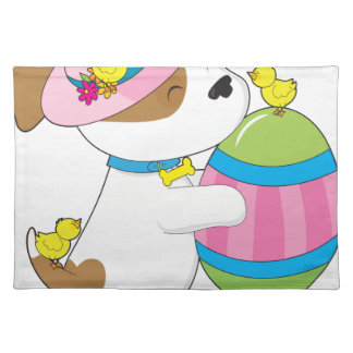 Cute Puppy Easter Egg Place Mat