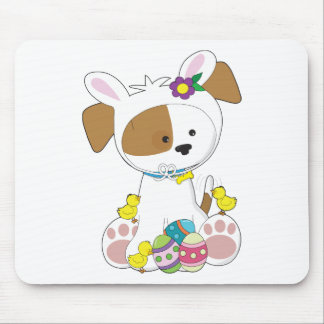 Cute Puppy Easter Mouse Pad