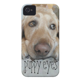 Cute Puppy Eyes iPhone 4 Case