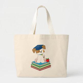Cute Puppy Graduate Tote Bag