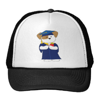 Cute Puppy Graduation Trucker Hat