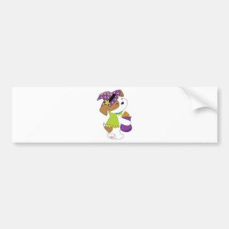 Cute Puppy Halloween Bumper Sticker