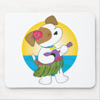 Cute Puppy Hawaii Mouse Pad