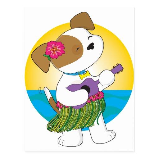 Cute Puppy Hawaii Postcard