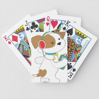 Cute Puppy Headphones Bicycle Poker Cards