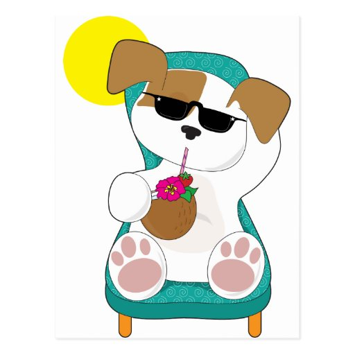 Cute Puppy Holiday Postcard