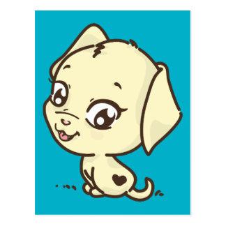 Cute Puppy Illustration Postcard
