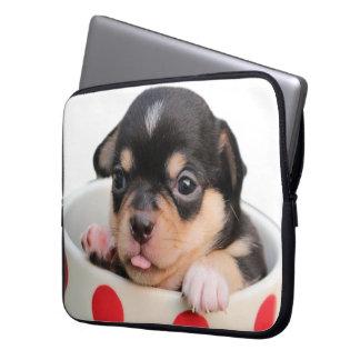 Cute Puppy in a Cup ~ cute purebred puppy in a cup Laptop Sleeve