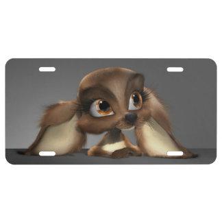 Cute Puppy License Plate