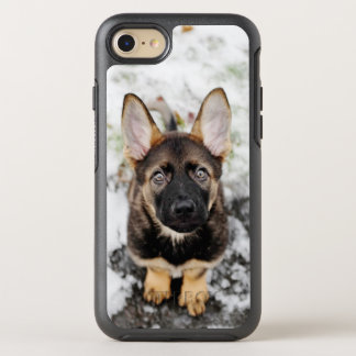 Cute Puppy Looking Up OtterBox Symmetry iPhone 8/7 Case