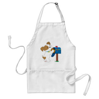 Cute Puppy Mail Adult Apron