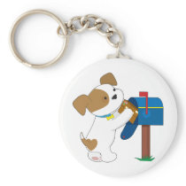 Cute Puppy Mail Keychain
