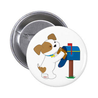 Cute Puppy Mail Pin