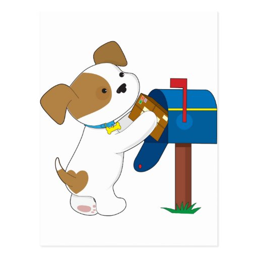 Cute Puppy Mail Postcards