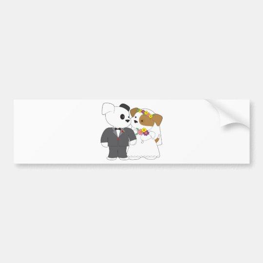 Cute Puppy Marriage Bumper Sticker