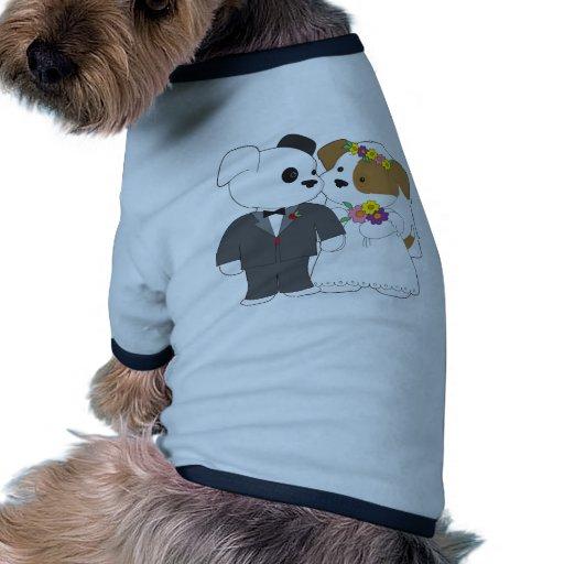 Cute Puppy Marriage Dog Tee Shirt