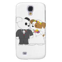 Cute Puppy Marriage Samsung Galaxy S4 Cover