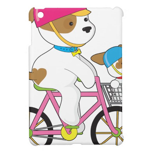 Cute Puppy on Bike iPad Mini Cases