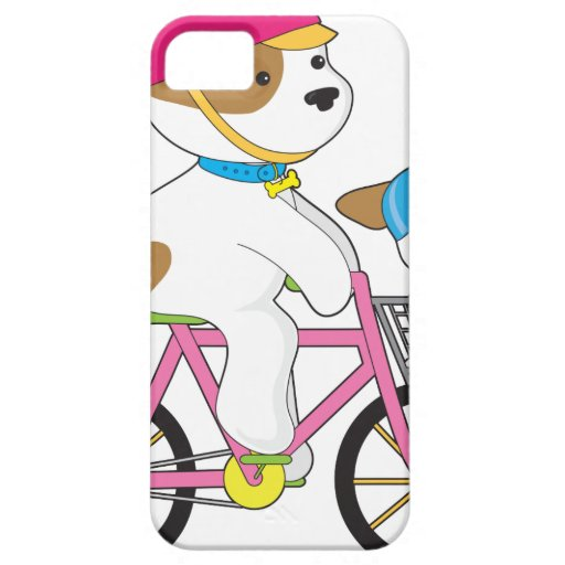 Cute Puppy on Bike iPhone 5 Cases