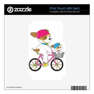Cute Puppy on Bike iPod Touch 4G Skin