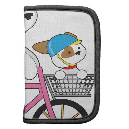 Cute Puppy on Bike Organizer