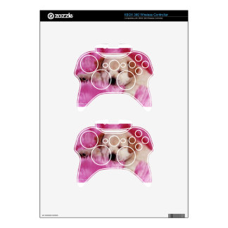 cute puppy on pink fur xbox 360 controller decal