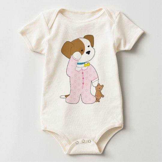 Cute Puppy Pajamas Baby Bodysuit