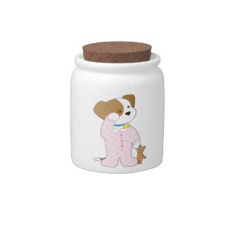 Cute Puppy Pajamas Candy Dish