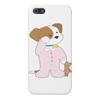Cute Puppy Pajamas Cover For iPhone 5